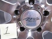 """4 USED 20X9 25 OFFSET 5-150 MB CHAOS SILVER WHEELS/RIMS 20"""""""